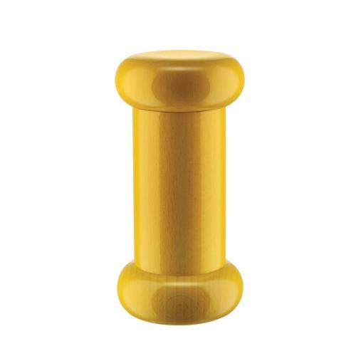 Alessi Salz-/Pfeffer- und Gewürzmühle aus Buchenholz gelb, Höhe 15cm
