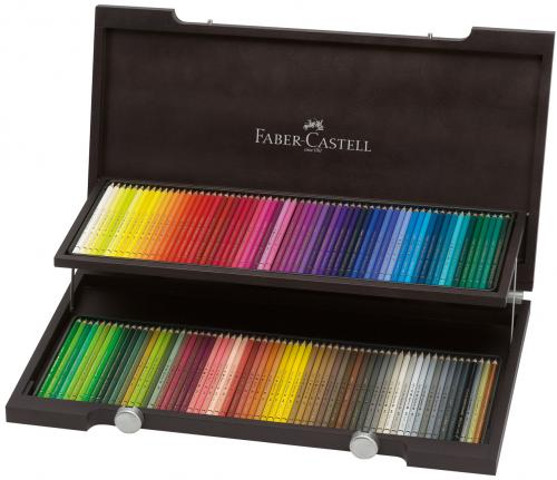 Faber Castell Farbstift Polychromos 120er Holzkoffer
