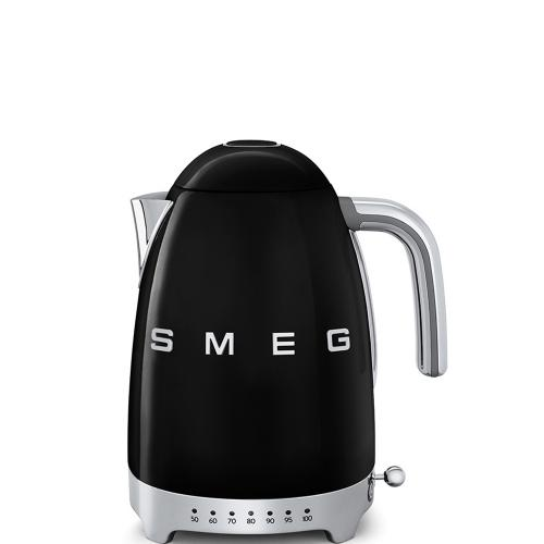 Smeg 50's Retro Style Wasserkocher variable Temperatur schwarz
