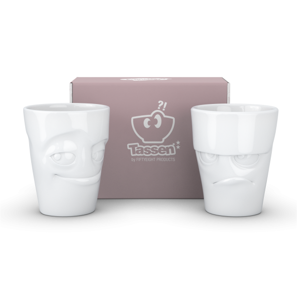 "58 products Becher-Set ""Grummelig & Verschmitzt"""